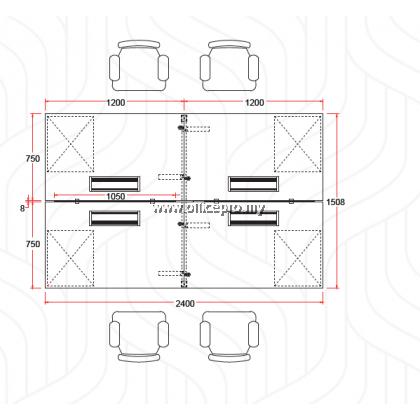 IP6-SR-4 WORKSTATION CLUSTER OF 4