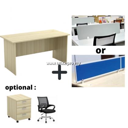 WORKSTATION CLUSTER OF 4 I OFFICE PANEL I OFFICE DIVIDER I EX SERIES SET (RECTANGULAR DESIGN)