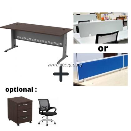 WORKSTATION CLUSTER OF 4 I OFFICE PANEL I OFFICE DIVIDER I Q SERIES SET (RECTANGULAR DESIGN)