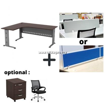WORKSTATION CLUSTER OF 4 I OFFICE PANEL I OFFICE DIVIDER I Q SERIES SET (+ DESIGN)