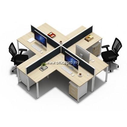 WORKSTATION CLUSTER OF 4 I OFFICE PANEL I OFFICE DIVIDER I N SERIES SET (+ DESIGN)