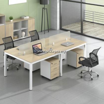 WORKSTATION CLUSTER OF 4 I OFFICE WORKSTATION I OFFICE PANEL I OFFICE DIVIDER I N SERIES SET (RECTANGULAR TYPE)